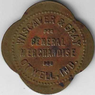 Otwell Indiana Wiscaver & Gray General Merchandise Good For $1 Token