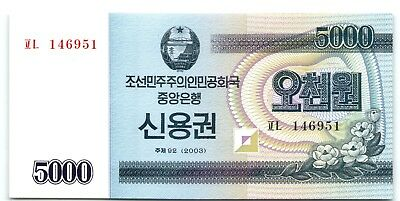 Korea 5000 Won 2003 *UNC* <Combine Shipping> Banknote
