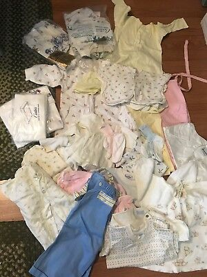 Vintage Lot Of Baby Clothes NEW 50's 60's Sleepers Tshirts Accessories 30+ NOS