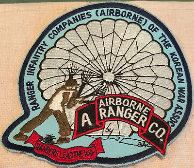 """Ranger Infantry Companies of the Korean War Assoc. A Co. Military Patch 5 1/2"""""""
