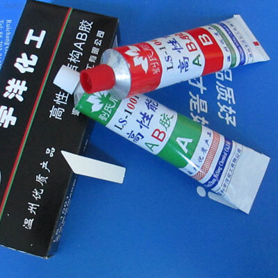 E60D A+B Resin Adhesive Glue with Stick Spatula For Super Bond Metal Wood