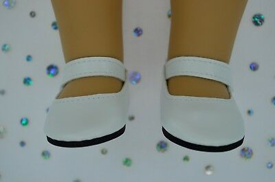 """Dolls Shoes For 17""""Baby Born~18""""American Girl WHITE SHOES"""