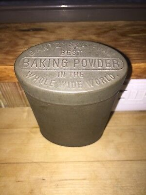 Vintage Gantz' Sea Foam Baking Powder Advertising Tin/Canister.