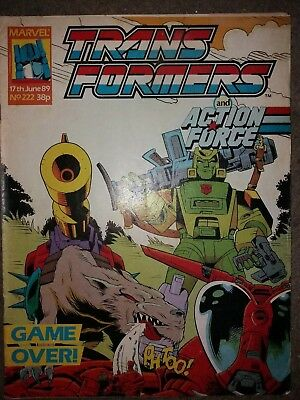 Marvel Transformers Comics Uk Issues 222 & 223