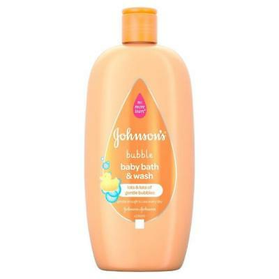 ** 2 X Johnsons Bubble Baby Bath & Wash 500Ml New ** Gentle No More Tears