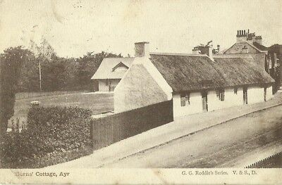 Ayr Burns' Cottage Posted Maybole 1904 Gg Roddie's Series V&s, D Postcard