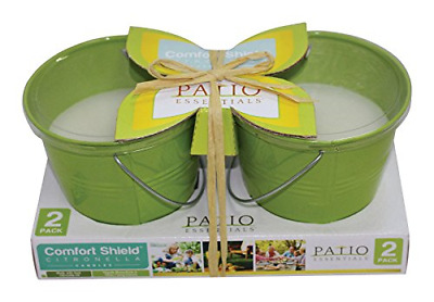 Patio Essentials 21108P-2 10 Oz Citronella Candle With Bucket Assorted 2 Count