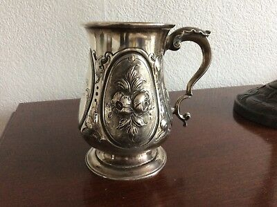 Stirling silver tankard 1862 - A G Piesse