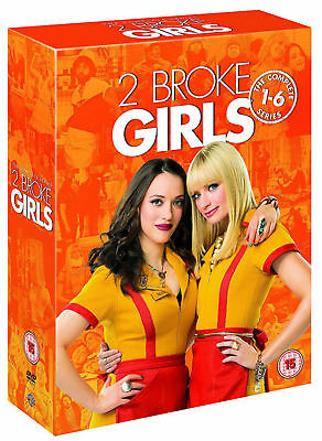 2 Broke Girls: The Complete Series Season 1 2 3 4 5 6 (DVD,17 Disc 2017 Box Set)