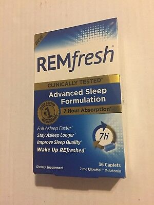 Remfresh 2mg Advanced Sleep Formulation - 36 Caplets Exp 09/2019