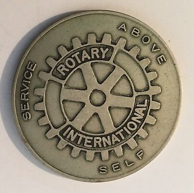 Rotary International The Four-Way Test, Service Above Self Token Coin