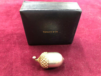 Tiffany & Co Sterling Silver Acorn Pill Box