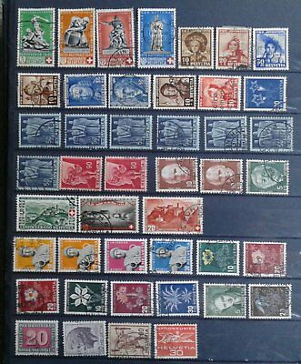 Switzerland early stamps Schweitz briefmarken 1940s
