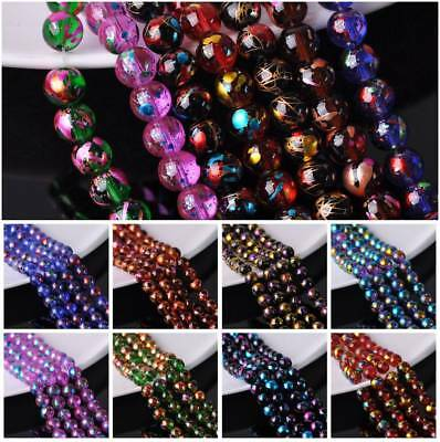 Wholesale 6mm 8mm 10mm Round Spots Plated Crystal Glass Loose Spacer Beads Lots