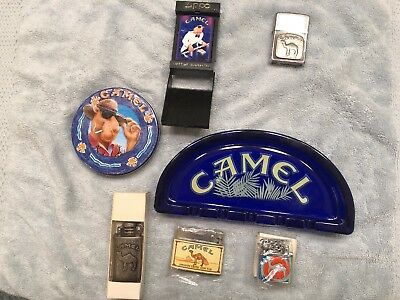 Camel Joe 7 Items (2) Are Zippo..2 Lighters Rare And Collectable 4 New Lighters