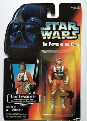 Star Wars POTF Red Card ~ LUKE SKYWALKER X-Wing Fighter Pilot  ~ 1995 Figure