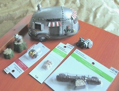 LOT OF 9 Tiny Treasures by Celebrate It - RUSTIC GARDEN - Miniatures