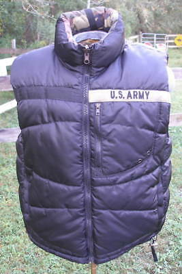 1St Infantry Division The Big Red 1 Us Army Reversible Black Camo Puffer Vest Xl