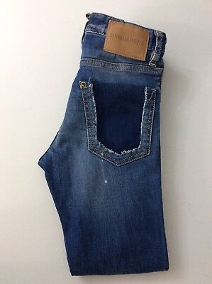 Dsquared2 Skinny Stretch Boys Distressed Jeans Age 10 Years Vgc