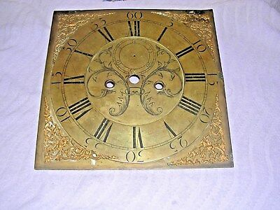 Clock  Parts ,big Brass Grandfather  Clockface