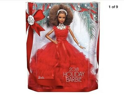 BRAND NEW 2018 30th Holiday ANNIVERSARY BARBIE  Doll African-American