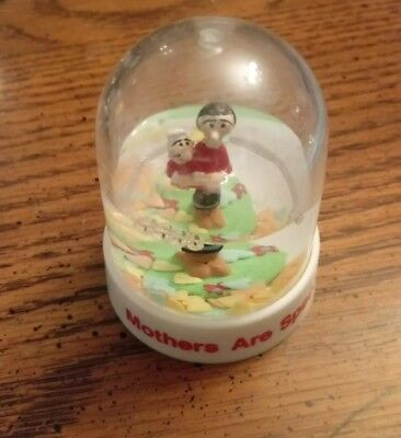 Vintage 1989 Olive Oyl Swee'Pea Snowglobe Mothers Are Special P5970 Presents