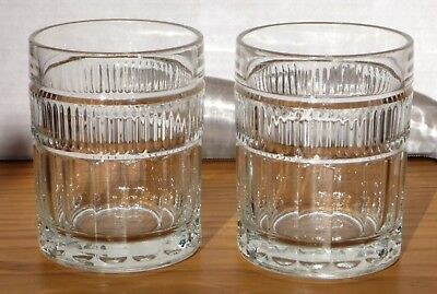 2 Double Old Fashioned ANNAPOLIS by Anchor Hocking 10 Oz. Vintage Heavy Base