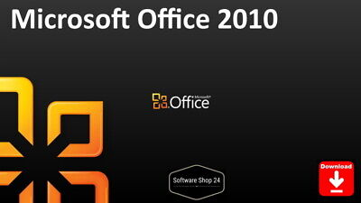Microsoft Office 2010 Word Excel PowerPoint OneNote Outlook Access Vollversion