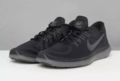 2cd920c5510e New Rare Nike Flex 2017 RN Size 9.5 Flyknit Men s Black Running Shoes  898457 005