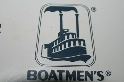 Vintage Boatman's Rain Gauge, Nautical Advertising Sign, Steam Boat. NOS