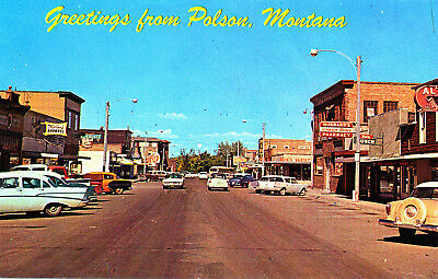"""MT Montana """"Greetings from Polson"""" Unposted Bob Anderson by Colourpicture Chrome"""