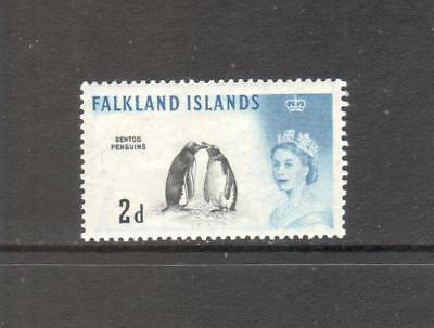 FALKLAND IS. 1966 QEII Definitive 2d Black & Deep Blue DLR SG195a MM CV £20.00