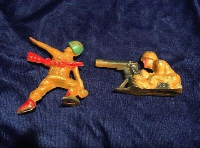 Collection of two Metal Manoil / Barclay Toy Soldiers - Good condition - Rare