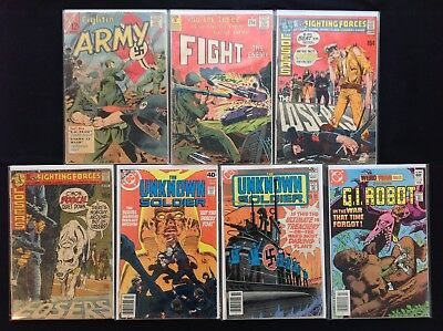 ARMY Lot of 7 Comic Bks - Fightin' Army, Fight the Enemy, Our Fighting Forces,+!