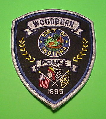 Woodburn  Indiana  1895  In  ( Indian )  Police Patch   Free Shipping!!!