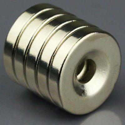 5/10/20pcs N50 Strong Disc Round 20x4mm Magnets Countersunk Ring With 5mm Hole
