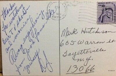 """David Janessen Signed/Autographed Note """"The Fugitive"""" Actor"""