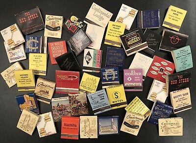 48 various 1960s Match Books - Casinos, Hotels, More from NV, MT, OR, UT, SD, WY