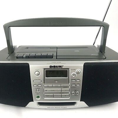 Sony Mega Bass CD Radio Tape Cassette Recorder Stereo Boombox Model No. CFD-S28
