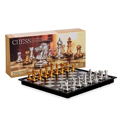 Magnetic Chess Board Game Set Travel Folding Chessboard Portable Durable Quality