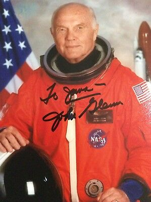 John Glenn Signed Photo Astronaut 1st American In Space