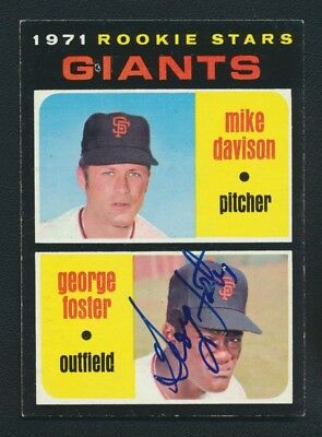 1971 Topps #276 George Foster RC Autograph Baseball Signed Giants
