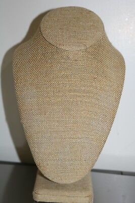 "Burlap Necklace Display Bust Stand 10.5"" Height up to 150 PCS.  Avail."