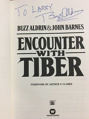 "Edwin ""Buzz"" Aldrin Signed Book ""Encounter With Tiber"" Astronaut"