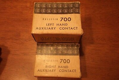 Allen Bradley 700-N1 Left Hand & 700N2A Right Hand Auxiliary Contacts (Am2)