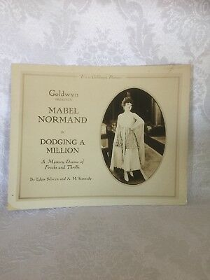"""Mabel Normand Lobby Card Set (10 Cards) """"Dodging A Million"""" 1918 Silent Classic"""