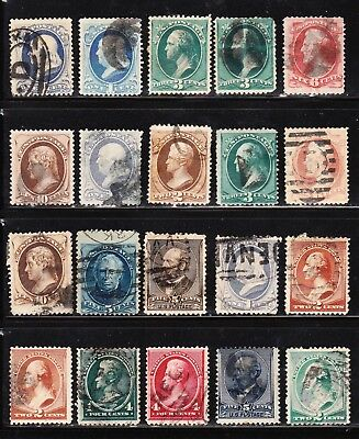 Small Collection of 20 US Banknote Stamps Some Fancy Cancels