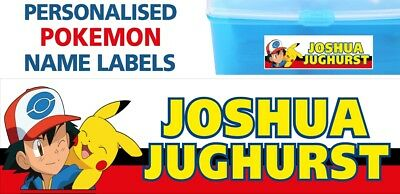 Pokemon Personalised Waterproof Name Labels School Books Lunch Box Stationary