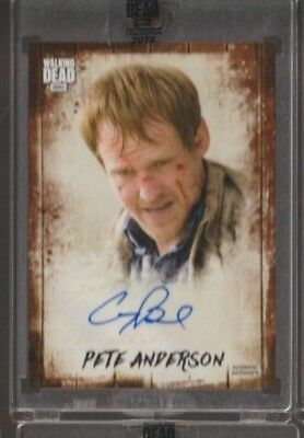 2018 TOPPS AMC WALKING DEAD COREY BRILL as PETE ANDERSON AUTO /25