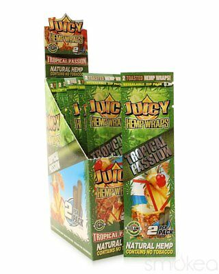 Juicy Natural Hemp Flavored Blunt Wraps (2-Pack)